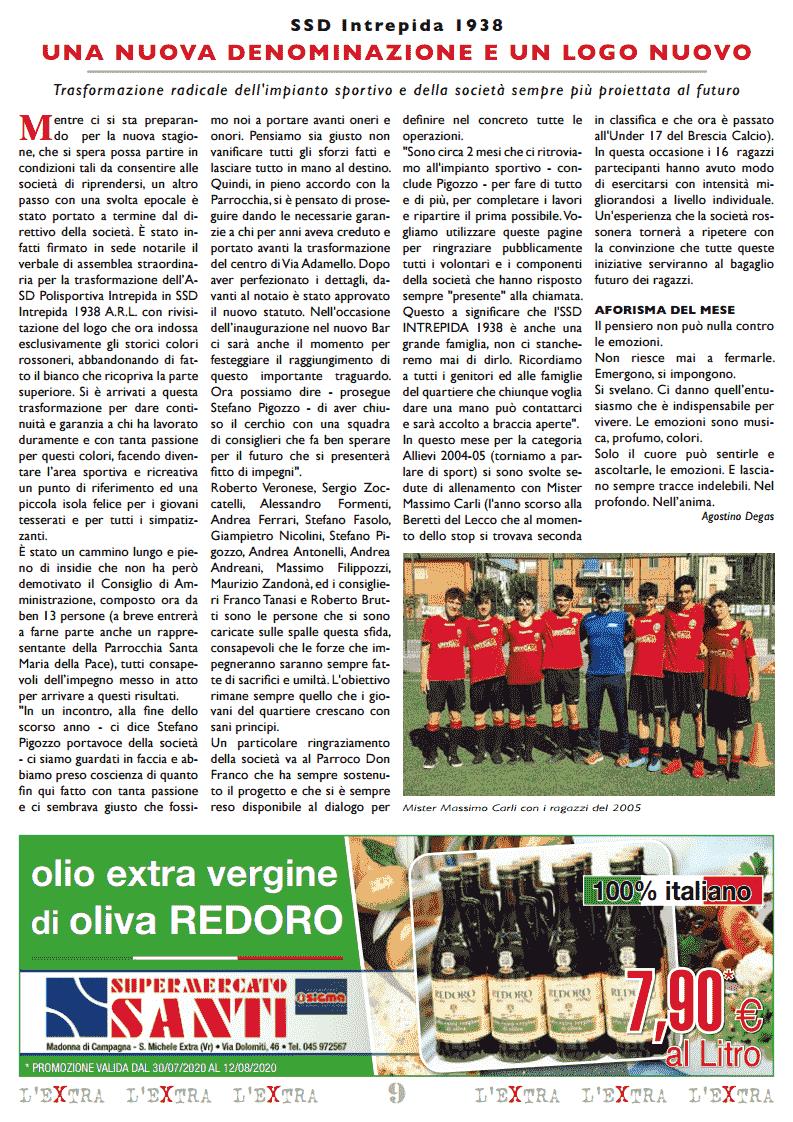 L'Extra - Il giornale di San Michele 2020-08