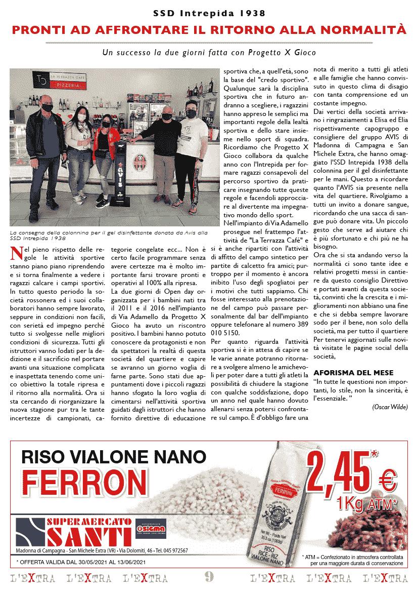 L'Extra - Il giornale di San Michele 2021-06