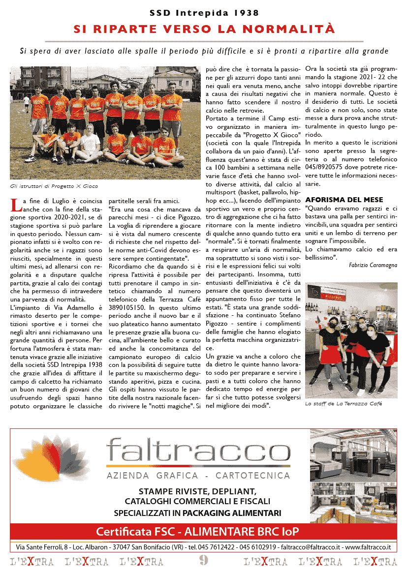 L'Extra - Il giornale di San Michele 2021-08