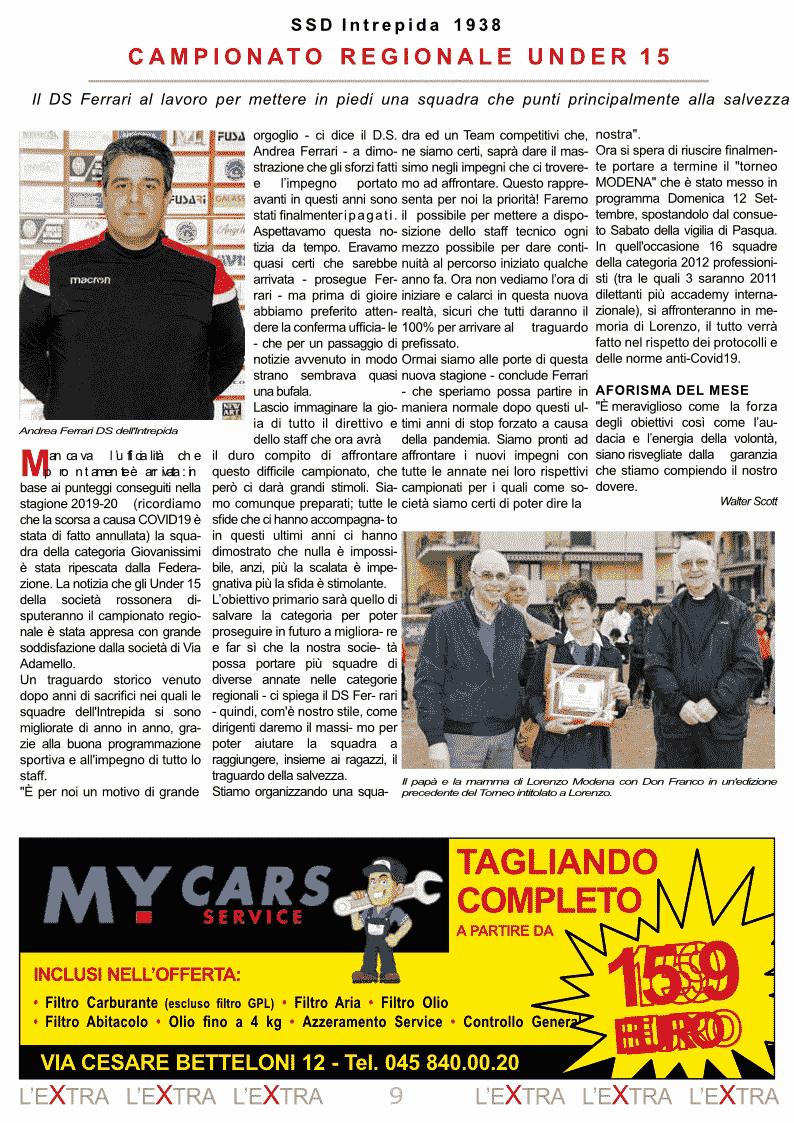 L'Extra - Il giornale di San Michele 2021-09