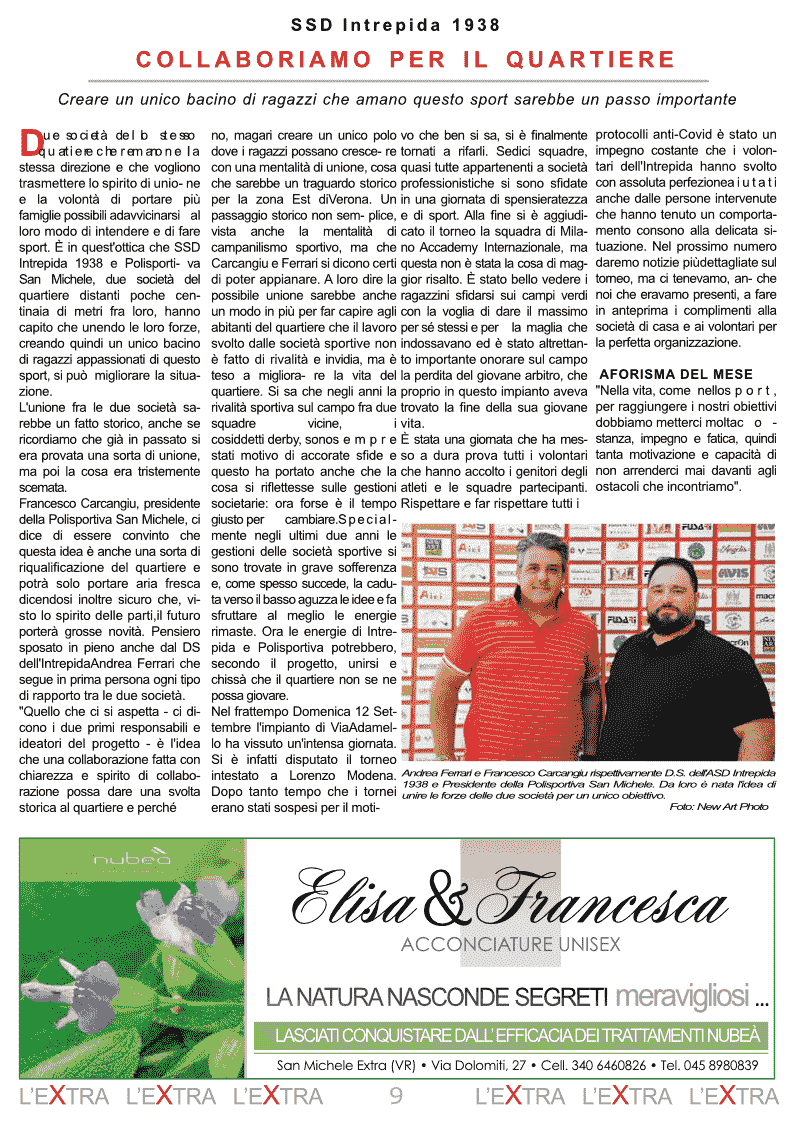 L'Extra - Il giornale di San Michele 2021-10